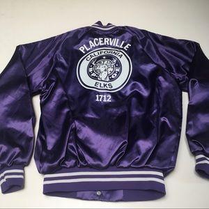 Placerville California Elks Satin Jacket Vintage